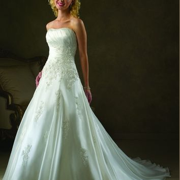 Bonny Classic 113 Beaded A-Line Wedding Dress