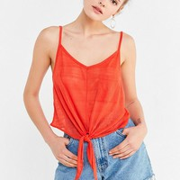 UO Quinn Tie-Front Cami | Urban Outfitters