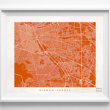 Ciudad Juarez Map, Mexico Print, Ciudad Juarez Poster, Mexico Poster, Map Print, Map Decor, Baby Room Decor, Home Goods, Halloween Decor