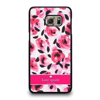 KATE SPADE NEW YORK PINK ROSE Samsung Galaxy S6 Edge Plus Case Cover