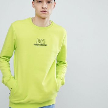 Sweet SKTBS x Helly Hansen Sweat With Back Logo In Neon Yellow at asos.com