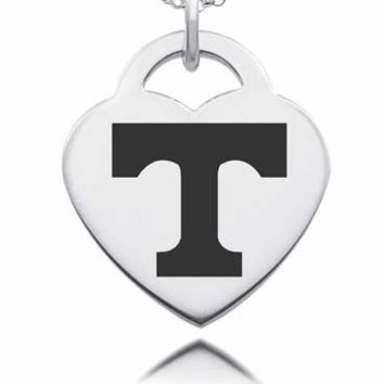 Sterling Silver Tennessee Volunteers Heart Charm