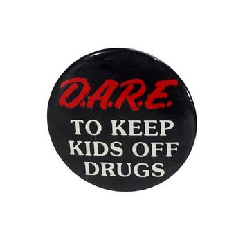 90s D.A.R.E. To Keep Kids Off Drugs Pinback Button Vintage Jean Jacket Vest Metal Pin Dare Drug Abuse Resistance Education