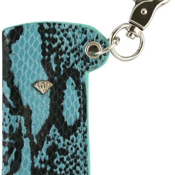 Diamond Snakeskin Lighter Sleeve Diamond Blue/Silver