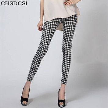 CHSDCSI Hot 2017 Print Flower Leggings Leggins Plus Size Legins Guitar Plaid Thin Pant Fashion Stripe Women Aptitud Trousers