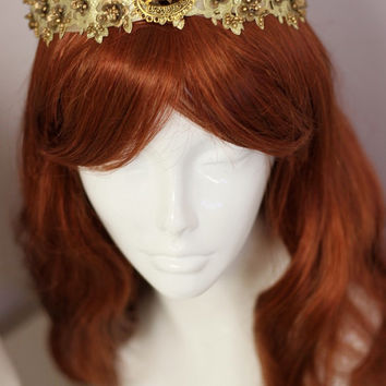 Princess Circlet in Jasmine Style Gold