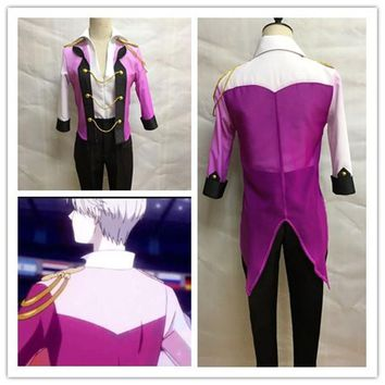 Cool Anime Cosplay Yuri on Ice Cosplay Costume Victor Nikiforov Uniform Suit Outfit Shirt & Coat & Pants & Gloves Halloween CostumeAT_93_12