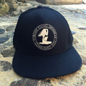 Hat - Classic Flat Bill - Snap Back - Black