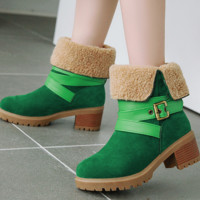 New fashion for comfortable square heels, medium heels and low heels for women's boots