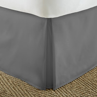 Home Collection™ Luxury Pleated Bed Skirt Dust Ruffle in Full Mocha