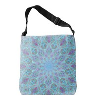 Boho-romantic colored mandala ornament arabesque crossbody bag