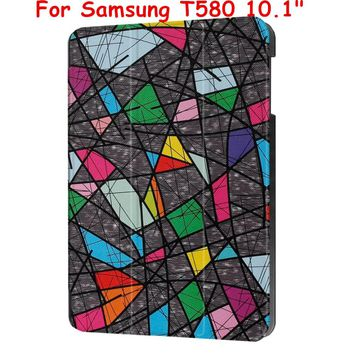Magnet Flip Cover For  Samsung Galaxy Tab A 10.1 2016 T585 T580 SM-T580 T580N Tablet case Smart Cover