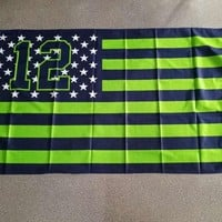 Yehoy Collection seattle seahawks 12 flag for decoration