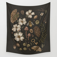 Nature Walks Wall Tapestry by Jessica Roux