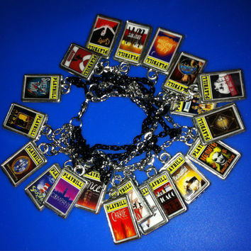 Theater / Drama Show Charm - Playbill  - Broadway Charm Bracelet YOUR CHOICE