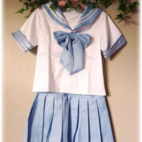 Strawberry Skies — Sailor Uniform - Baby Blue