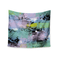 "Vasare Nar ""Watercolor Texture"" Multicolor Lavendar Wall Tapestry"