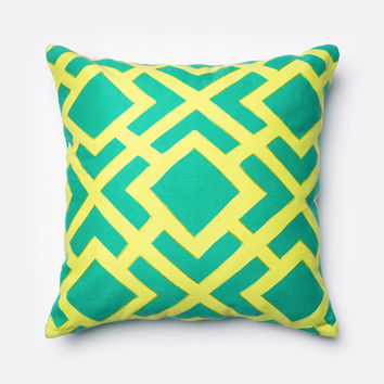 "Loloi Green / Green 22"" X 22"" Decorative Pillow"