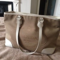Authentic Prada Tote Bag, Large