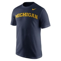 NCAA Michigan Wolverines Men's Wordmark T-Shirt