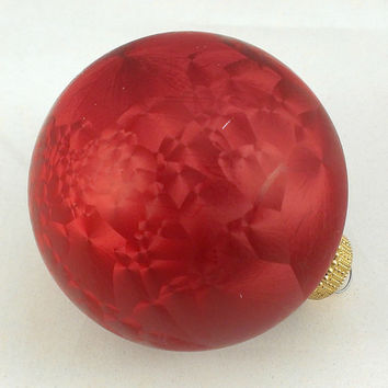 Red Glass Christmas Ornaments Holiday Decorations Christmas Decor Christmas by Krebs Kitsch Kitschy Retro Tree Ornaments