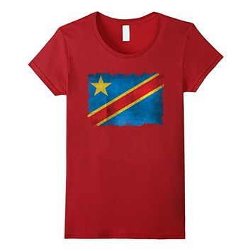 Flag of the Democratic Republic of the Congo in Vintage retr
