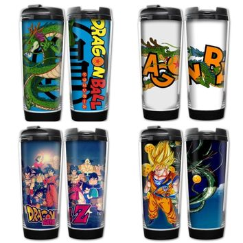 Comic Dragon Ball Saiyan Heat Insulation Vacuum Cup Goku/Kuririn/Gotenks/Uranai Stainless Steel Portable  Cartoon Anime Product