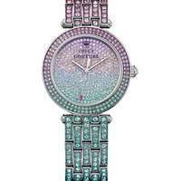 Stainless Steel With Crystals Luxe Couture by Juicy Couture, O/S