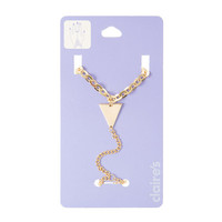 Gold Triangle and Chain Link Hand Chain