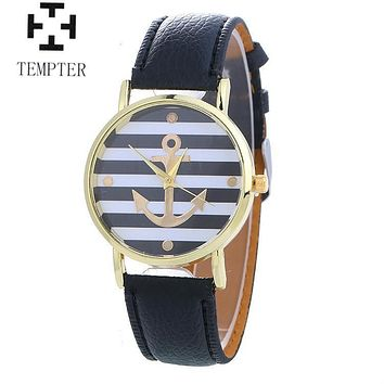 TEMPTER 2017 Fashion Anchor Quartz Watch Women Brand Luxury Wrist Watch Ladies Girls Female Clock Montre Femme Relogio Feminino