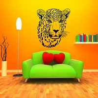 Wall Decal Vinyl Sticker Decals Art Home Decor Murals Leopard Print Wild Cat Wildcat Animals Panther Tiger Bathroom Bedroom Dorm Decals AN88
