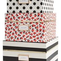 kate spade new york nesting boxes - Black (set of 3)