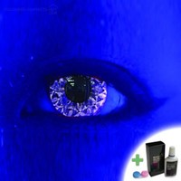 Mesmereyez Kiss Violet Coloured Contacts (Comfort) (Kit)