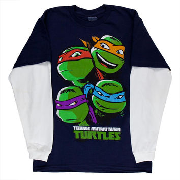 Teenage Mutant Ninja Turtles - Peaking Heads Youth 2fer Long Sleeve