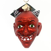 Old World Christmas Devil Head Halloween Glass Ornament