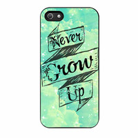 Peter Pan Never Grow Up Graphic Black iPhone 5 Case