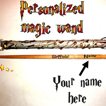 Gryffindor Magic Wand. Personalized Magic Wand. FREE SHIPPING Custom Name Magic Wand. Wizard Wands, Fairy Wands, Printed Name Magic Wand