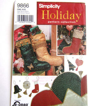 Simplicity Holiday Pattern Collection 9866, Simplicity Ornaments