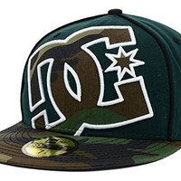 DC Shoes Coverage II New Era Fitted 59Fifty Green Camo Hat Cap Size 7 1/4