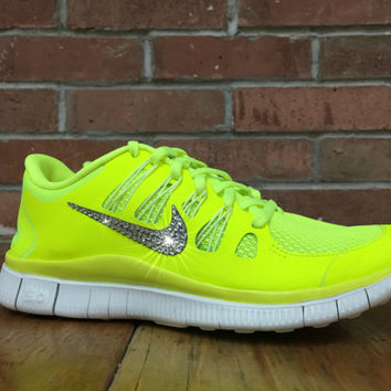 Women s Nike Free Run 5.0+ Running Jogging Training Shoes Customized With  Swarovski El 6b88aeeef