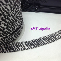 5/8 zebra elastic, FOE, Wholesale elastic, headband supplies, fold over elastic, elastic for hair ties, foe for headbands