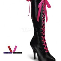 Black Faux Leather Laced Up Boots @ Amiclubwear Boots Catalog:women's winter boots,leather thigh high boots,black platform knee high boots,over the knee boots,Go Go boots,cowgirl boots,gladiator boots,womens dress boots,skirt boots,pink boots,fashion boot