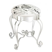 Pretty In Paris Metal Foot Stool
