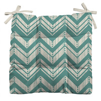 Heather Dutton Weathered Chevron Outdoor Seat Cushion