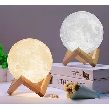 3D Night Light Moon Lamp
