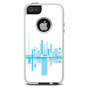 The Abstract Blue Skyline View Skin For The iPhone 5-5s Otterbox Commuter Case