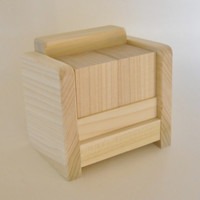 Perpetual Desk Calendar Kit, Wooden Block