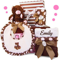 Park Avenue Posh Baby Girl Gift Set ~ Personalized
