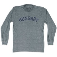 Hungary City Vintage Long Sleeve T-shirt