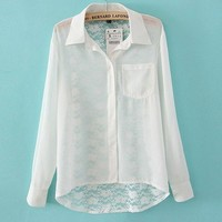 White Shirt With Lace from Charmaco